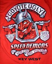 Coyote Ugly Saloon Speed Demons Live Fast Ride Faster Key West Large Shirt Red