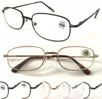 Unisex Classic Metal Reading Glasses Selection Spring Hinges Simple Smart Design