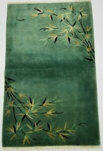 Antique Handmade Chinese Tibetan Art Deco Wool Oriental Rug Carpet 144x91cm