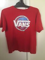 Vans Off The Wall Red Graphic Logo T-Shirt T Shirt Short Sleeve Size Large