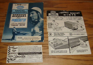 Original 1963 Aurora Model Motoring Thunderjet 500 Service Manual w Extras