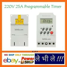 E1125 Daily Weekly Programmable Electronic Timer Switch 220V AC 25A MCB Relay