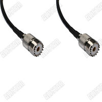RG58 50cm UHF SO-239 Female to Jack Pigtail Jumper Coax Cable for WiFi