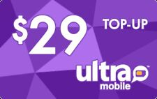 Ultra Mobile  Prepaid $29 Refill Top-Up Prepaid Card ,PIN / RECHARGE