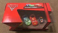 Disney Pixar Cars 2 Racing 4 Pack - Mcqueen, Max, Jeff, Carla, NIB!