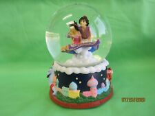 "Enesco Disney Aladin Snow Globe  Plays ""Moonlight Serenade"" Pre-owned"
