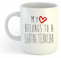 My Heart Belongs To A Lighting Technician Mug