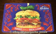 "RED ROBIN GOURMET BURGERS GIFT CARD ""SONRIE CON LA BOCA LLENA"" NEW NO VALUE"