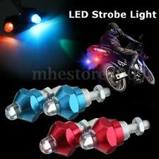 Motorcycle Car RGB LED Warning Flash Strobe Light License Plate Screw Bolt Lamp
