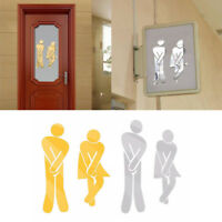 DIY 3D Toilet WC Removable Decal Art Wall Sticker Mirror Decor