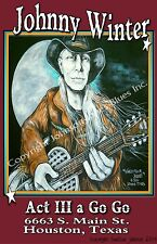 Johnny Winter at Act III a Go Go Poster by Cadillac Johnson