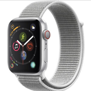 Apple Watch Series 4 44 mm Silver Aluminum Case with 4 bands