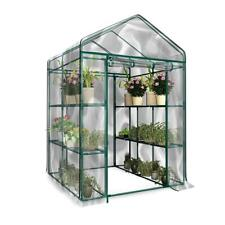Garden Greenhouse Green Plant House Shed Storage PE Cover Apex Roof No Shelves