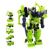 22cm Tall G1 Devastator Transformer Figure 6-in-1 Multiple Form Changes No Box