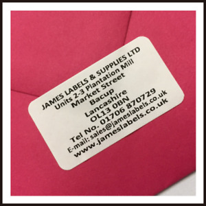 260 PERSONALISED ADDRESS / RETURN ADDRESS LABELS - GOLD, SILVER, OR WHITE