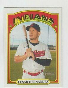 (11) Cesar Hernandez 2021 TOPPS HERITAGE BASE CARD LOT #270 CLEVELAND INDIANS