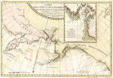 CARTA GEOGRAFICA ANTICA 1700 CANADA NOOTKA AMERICA USA