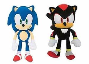 "Sonic and Shadow the Hedgehog Large 12"" Plush Licensed SEGA Stuffed Animal Dolls"