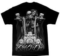 David Gonzales Dga Ride Or Die My Old Lady Motorcycle Skull Biker T Tee Shirt