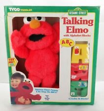 Vintage Talking Elmo Sings ABCs with Alphabet Blocks T2