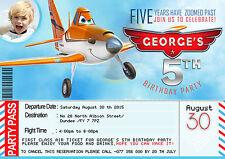 Personalizzati Per Bambini Inviti Festa Di Compleanno Disney aerei 8 biglietti
