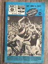 1977 VFL AFL football record Carlton Blues V Footscray Bulldogs June 11