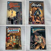 (Lot Of 4) Realworlds Wonder Woman, Batman, JLA, Superman TPB DC Comics 2000
