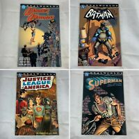 (Lot Of 4) Realworlds Wonder Woman, Batman, JLA, Superman TPB DC Comics 2000