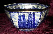 Wade Ringtons blue & white vintage Art Deco antique cathedral bowl