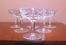 6 x WATERFORD Crystal 'Lismore' Champagne/Tall Sherbet Glasses - Gothic Mark