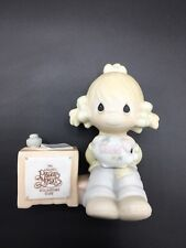 Precious Moments - Collector's Club 1983 Girl With Dues Piggy Bank Figurine -