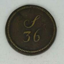 More details for 18th century portuguese gold half joe s 36 shillings brass coin weigh