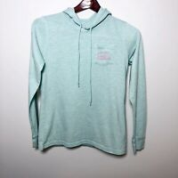 Womens Vineyard Vines Long Sleeve Pullover Hoodie Pocket T-Shirt XXS Green Pink