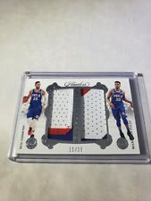 BEN SIMMONS MARKELLE FULTZ 2017-18 FLAWLESS DUAL DIAMOND GAME USED PATCHES 11/25