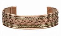 12 SOLID COPPER TWO TONE CUFFED HEALTH BRACELET men women ladies jewelry braclet