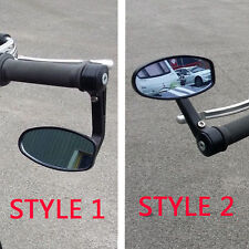 Anti Glare Black Motorcycle Bar End Rear View Side Mirrors For BMW G650 XMOTO #A