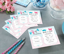 24 Gender Reveal Prediction Card Game Baby Shower Activity