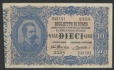 More details for 1888 italy scarce 10 lire banknote currency signatures giu.dell'ara & righetti