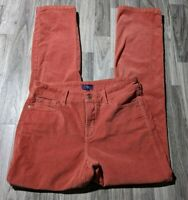 NYDJ Womens Size 8 Straight Lift Tuck Technology Red Coral Corduroy Pants