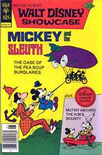 "Walt Disney Showcase #39 Very Fine, ""Mickey and the Sleuth"" Gold Key Comics '77"