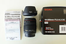 Sigma 18-200mm f/3.5-6.3 DC Lens with built in AF motor for Nikon