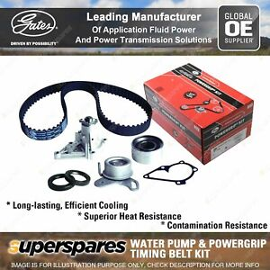 Gates Water Pump & Timing Belt Kit for Hyundai Excel X-3 Getz TB Matrix Tiburon