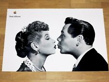 APPLE THINK DIFFERENT POSTER - LUCILLE BALL DESI ARNAZ by STEVE JOBS 61 x 91 CM