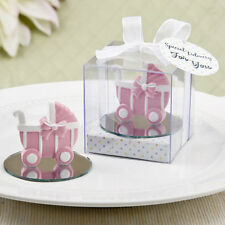 24 Pink Baby Carriage Stroller Girl Baby Shower Baptism Favors