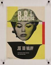 BABETTE S'EN VA T'EN GUERRE GOES TO WAR Czech movie poster BRIGITTE BARDOT LINEN