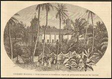 IMAGE 1888 ENGRAVING INDE INDIA PONDICHERY KUMBAKONAM KUDANTHAI