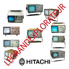 Hitachi Oscilloscope Operation Repair Service Manuals & Schematics  manual s DVD