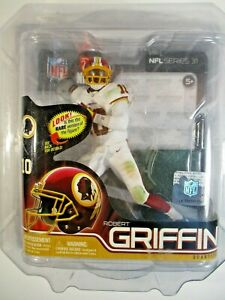 MCFARLANE TOYS ROBERT GRIFFIN III QB NFL COLLECTOR LEVEL SILVER #0404 0F 1000