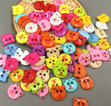 DIY 50PCS 2 holes Bear Resin buttons Scrapbooking sewing accessories 13mm
