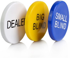 Smartdealspro 3pcs Small Blind, Big Blind and Dealer Poker Buttons